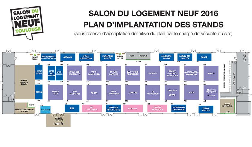 T l chargez le plan du salon du logement neuf toulouse - Salon du modelisme toulouse ...